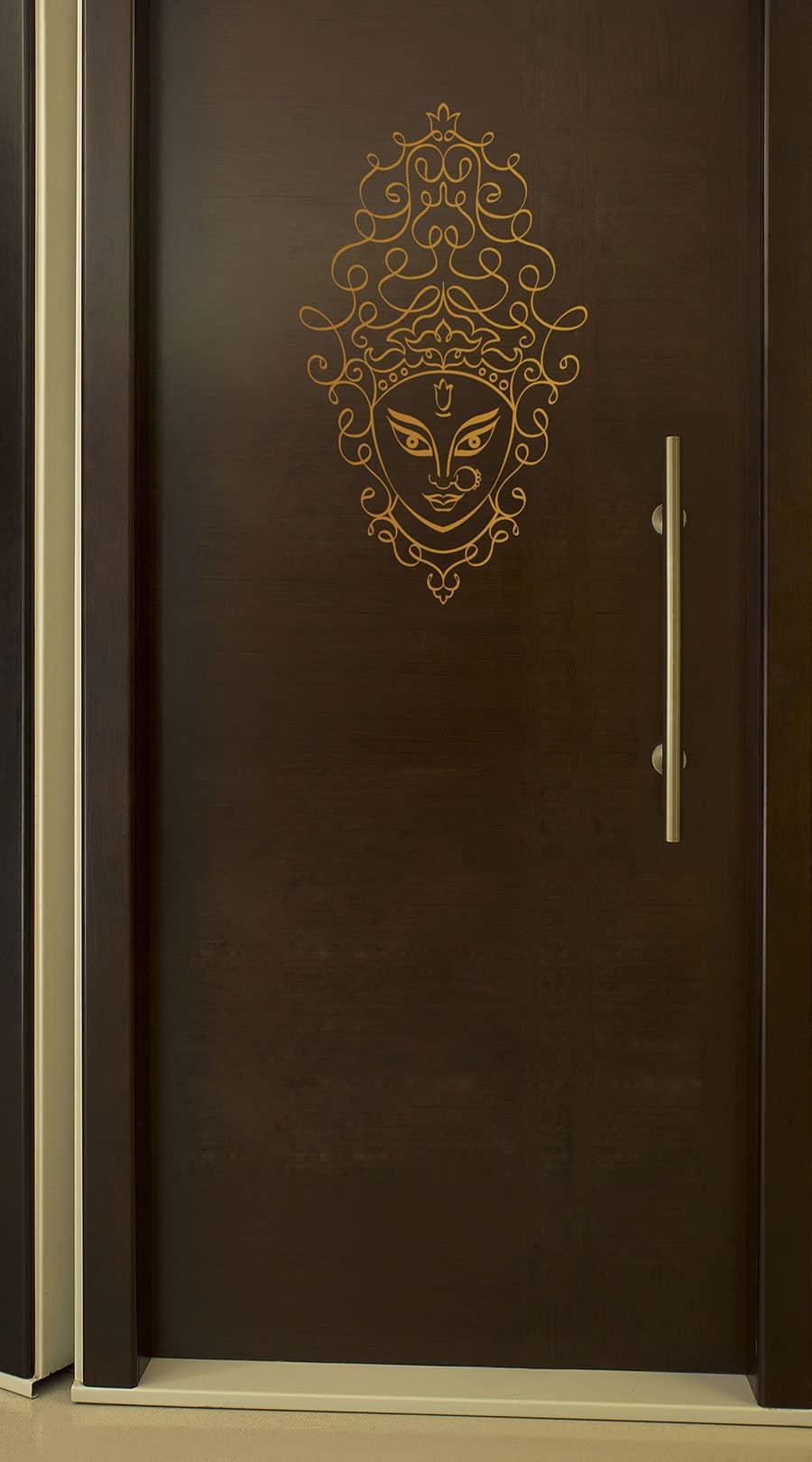 WDC01012 Goddess Durga Art Copper M room sticker
