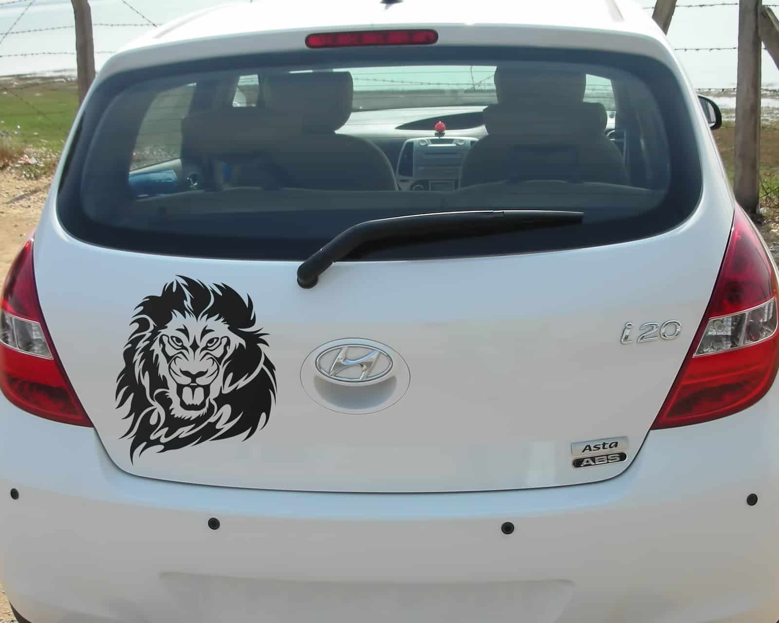 Lion Style Black Dicky Car Sticker
