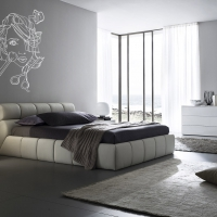 Girly Stuff Silver Bedroom decal