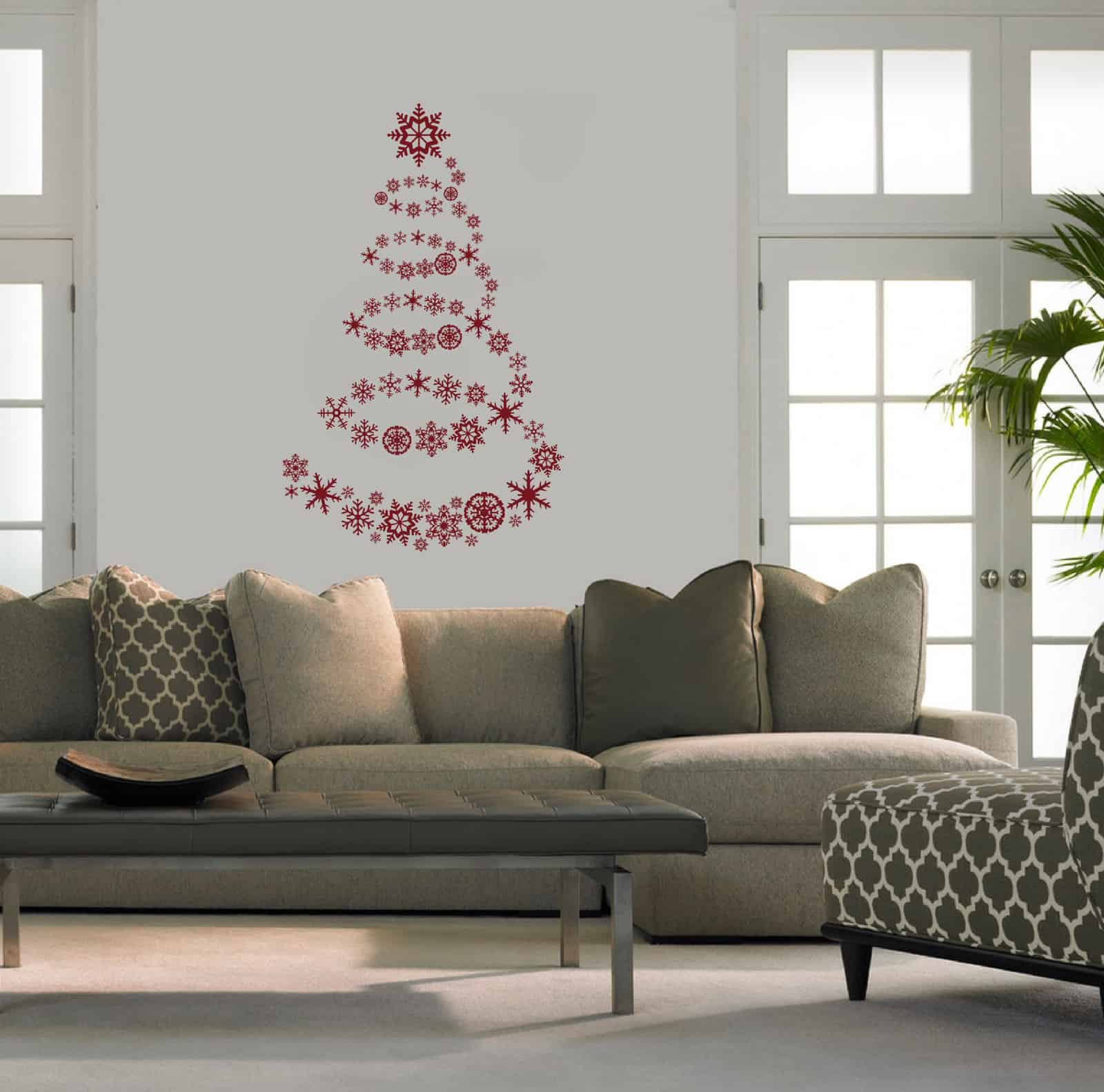 Ice Crystal Tree Living2 room sticker