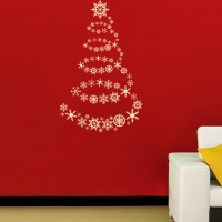 Ice Crystal Tree Universal room decal