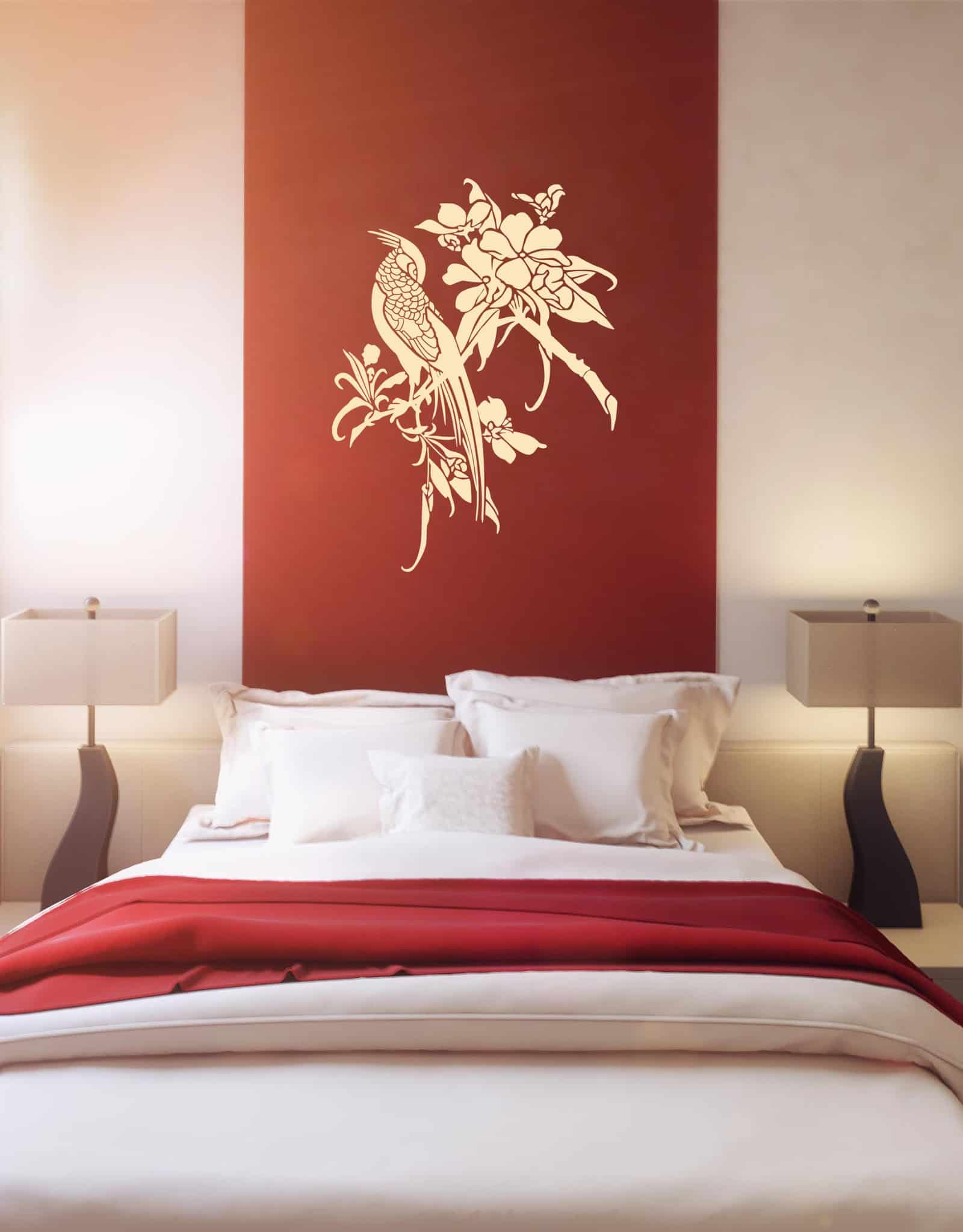 Asian bird 3 Bedroom3 sticker