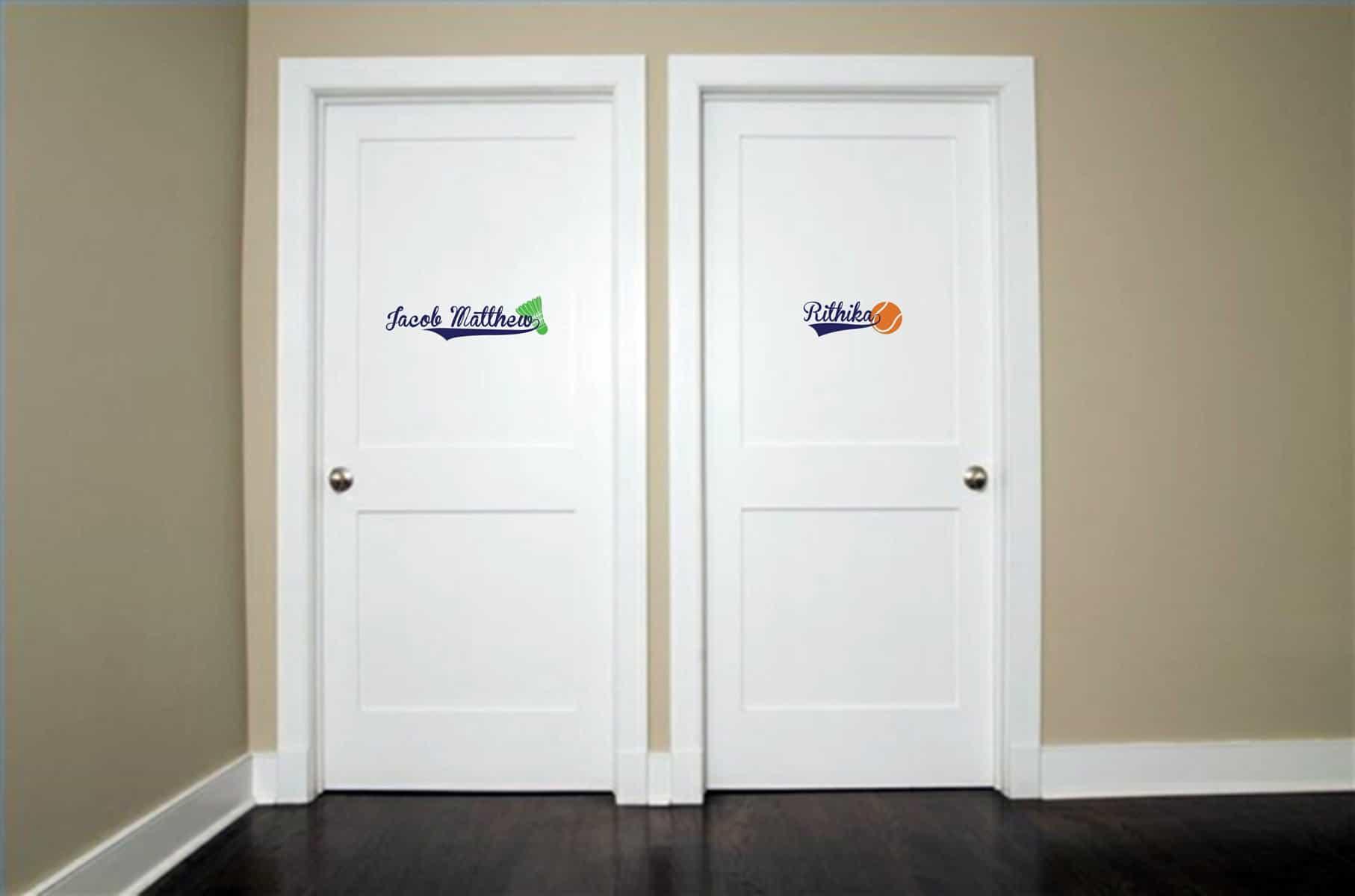 Sporty Space Door room decal