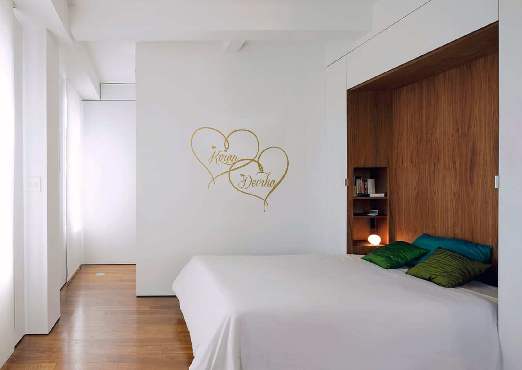 Love Hearts Bedroom2 sticker