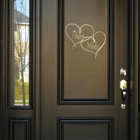 Love Hearts Door2 room decal