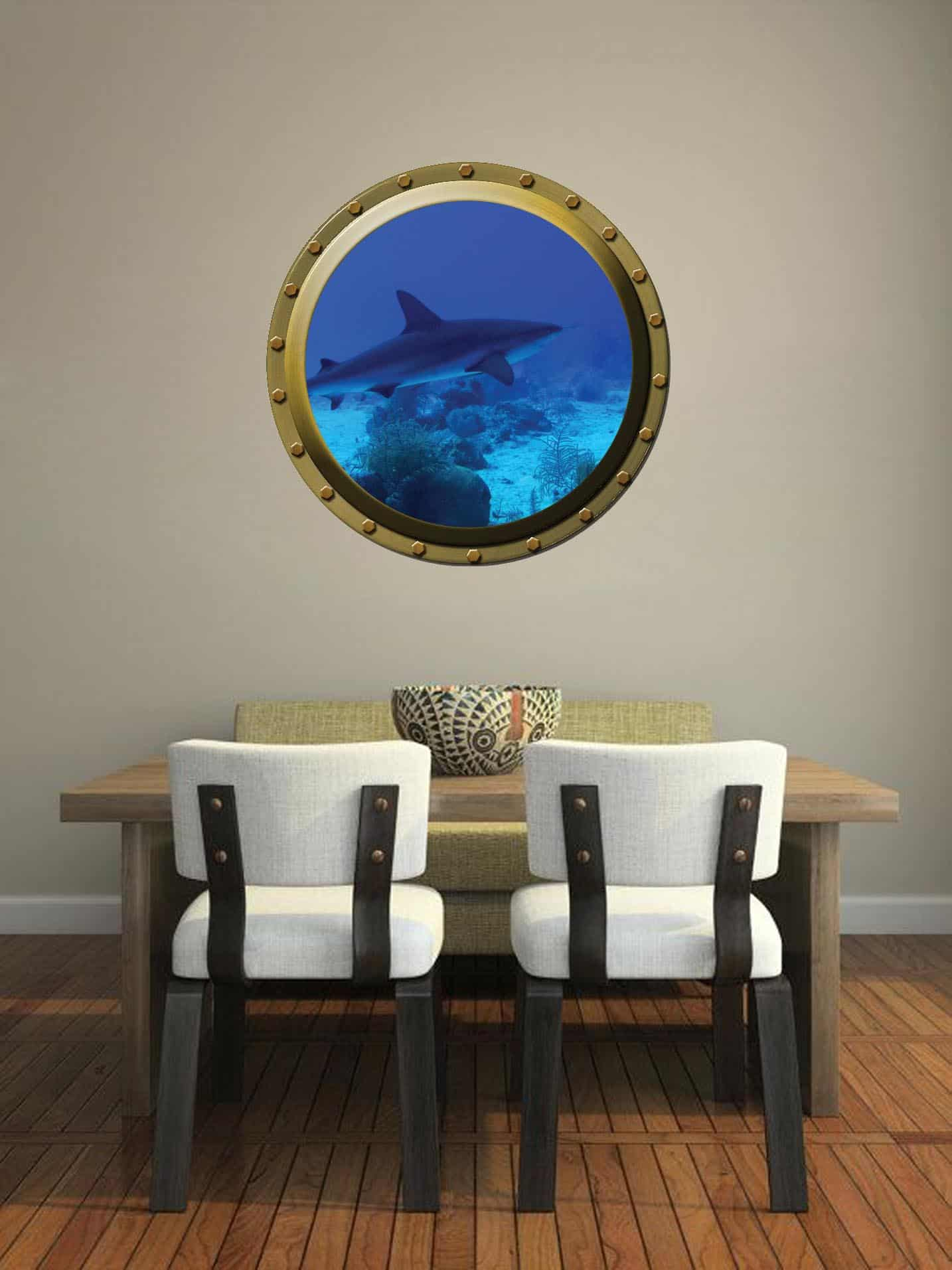 Submarine window illusion Dining room sticker