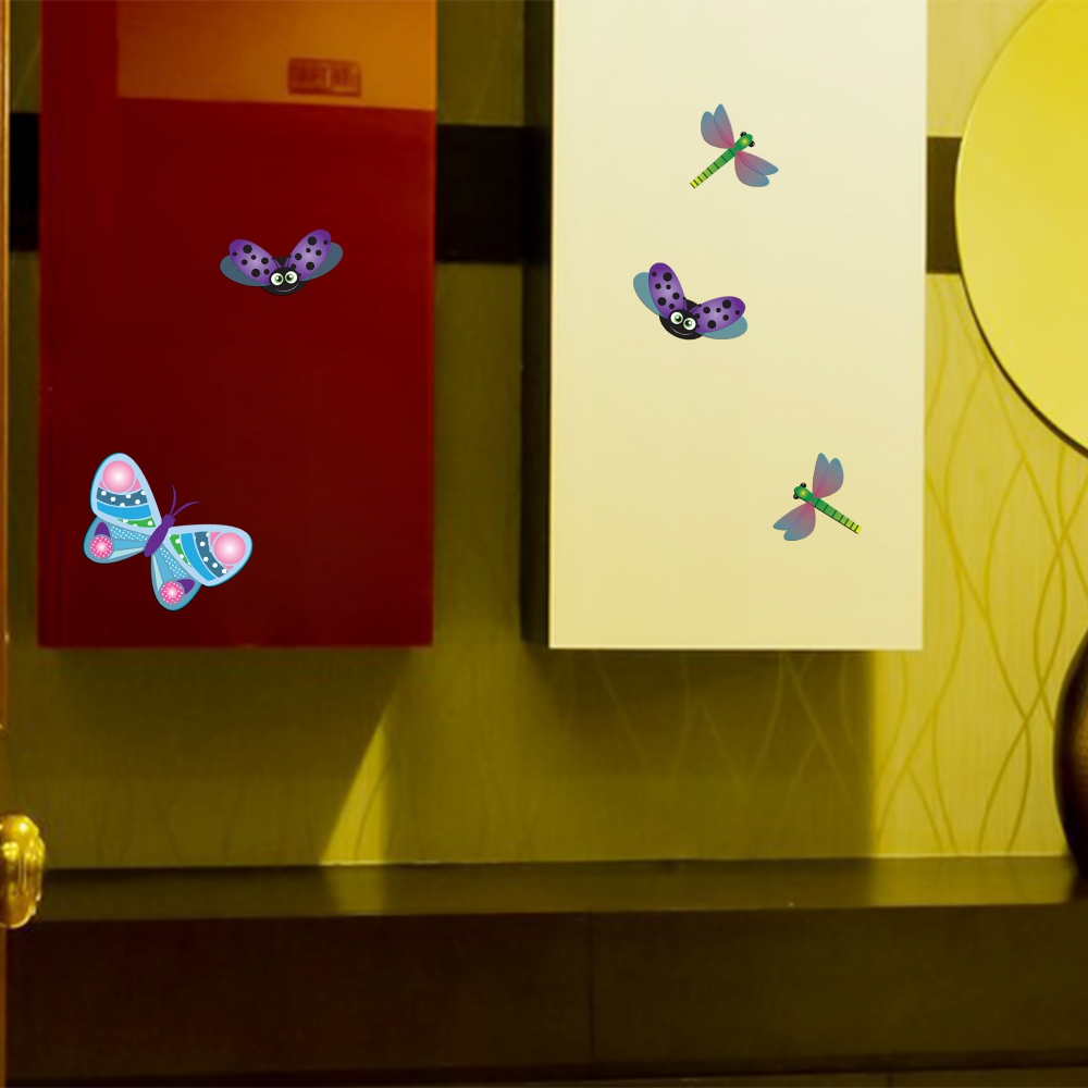 Butterfly and Bugs Entrance room sticker